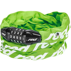 Red Cycling Products Secure Chain Antifurto con lucchetto azzerabile, green